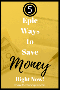 Saving money can be tough, but it doesn't need to be. Just check out these epic ways to save money right now. You'll be glad you did! #howtosavemoney #savingmoneyideas #savingmoneytips #frugalliving #savingmoneyfast