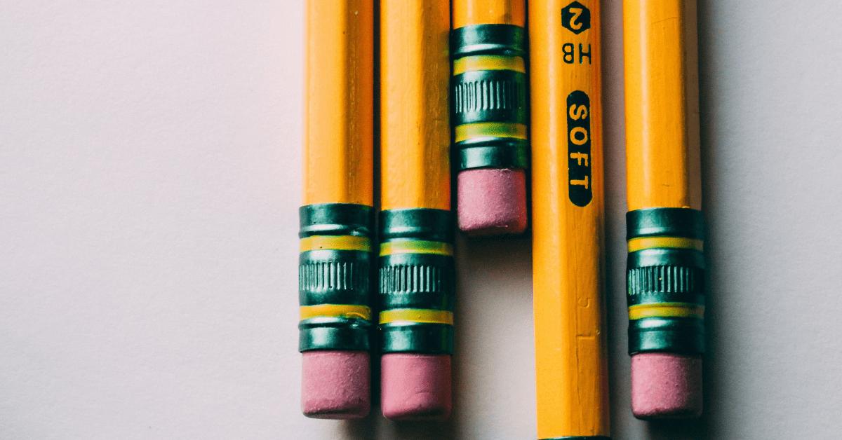 closeup of pencils