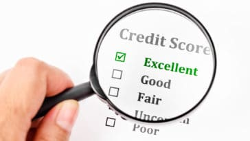 image showing an excellent credit score