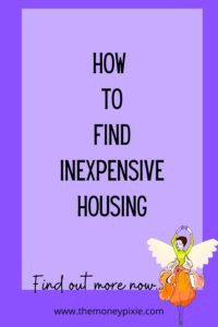 how to find inexpensive housing - text pin for pinterest