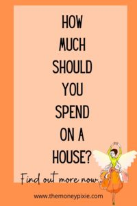 how much should you spend on a house - text pin for pinterest