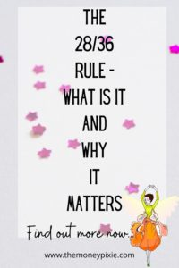 the 28/36 rule - what is it and why it matters - text pin for pinterest