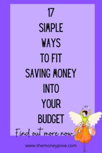 how can i fit saving money into my budget - text pin for pinterest