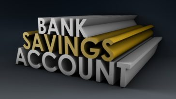 the words bank savings account