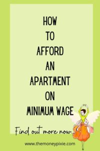 how to afford an apartment on minimum wage - text pin for pinterest