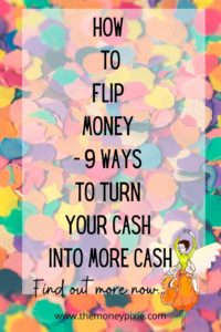 how to flip money - text pin for pinterest