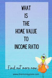 what is the home value to income ration - text pin for pinterest