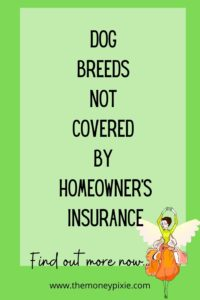 dog breeds not covered by homeowner's insurance