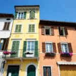 Colorful houses in Italian town