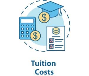 Tuition costs concept icon