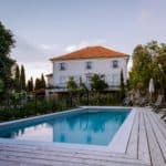 French vacation home with wooden deck and swimming pool in the Ardeche France Europe