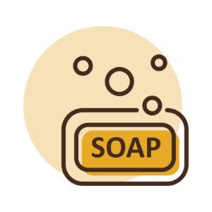 Soap vector icon. Hygiene sign