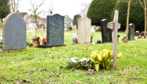 nice colorful image of a cemetery -Should You Send Money with a Sympathy Card