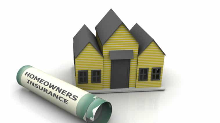 a house with the wordsHomeowner's Insurance