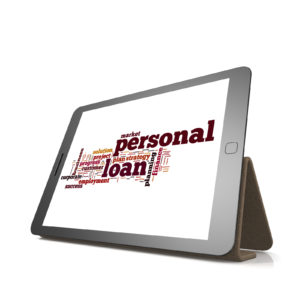 Personal loan word cloud on tablet -How to Afford Weight Loss Surgery