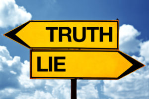 Truth or lie opposite signs.