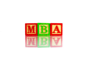 MBA word reflection on white background -What Major Should I Pick if I Want to Make a Lot of Money