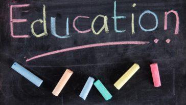 The word Education written on blackboard