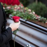 funeral and cemetery; funeral with coffin