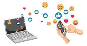 Set of social media emoticon illustration