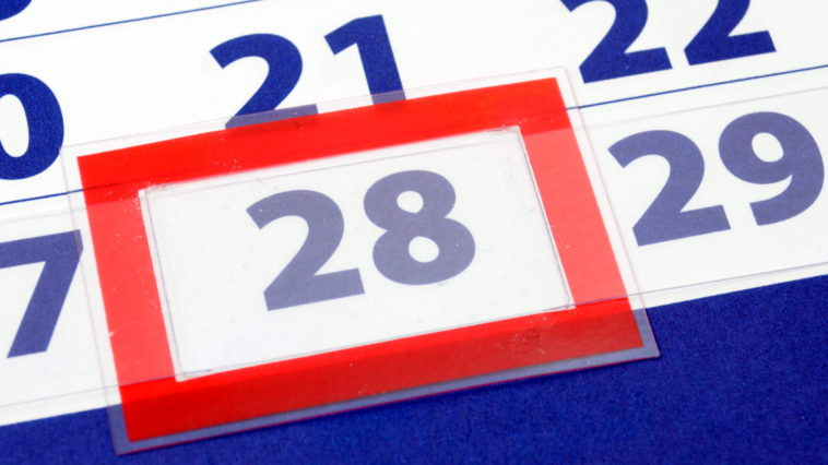 calendar date showing day week and month of the year