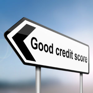 illustration depicting a sign post with directional arrow with credit score written on it -Can I get an Apartment with a 580 Credit Score