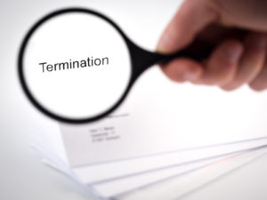 Cover letter with the word Termination in the letterhead -Can I Change My Mind After Signing an Apartment Lease