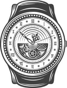 illustration of a vintage watch