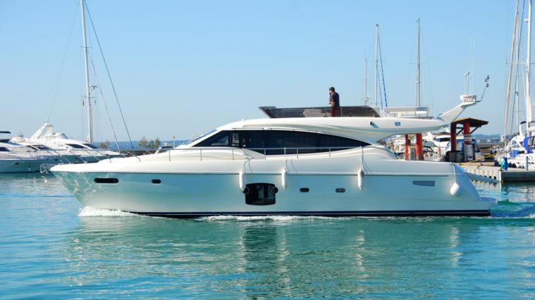 luxury boat in harbor