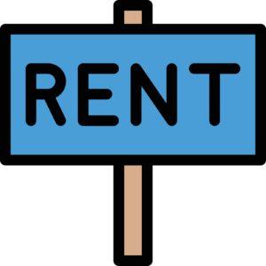 rent board vector line colour icon