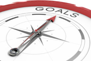 A Compass pointing to goals